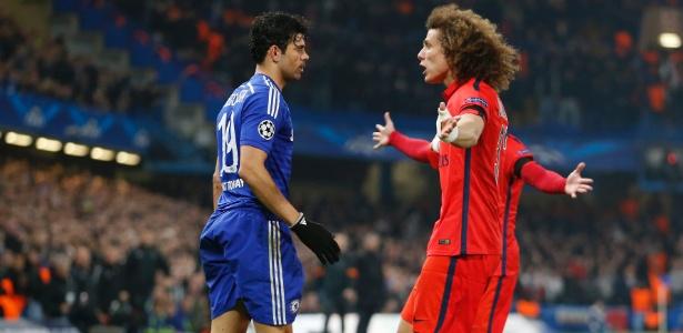 David Luiz minimizou atritos com Diego Costa em jogos entre Chelsea e PSG - John Sibley/Reuters