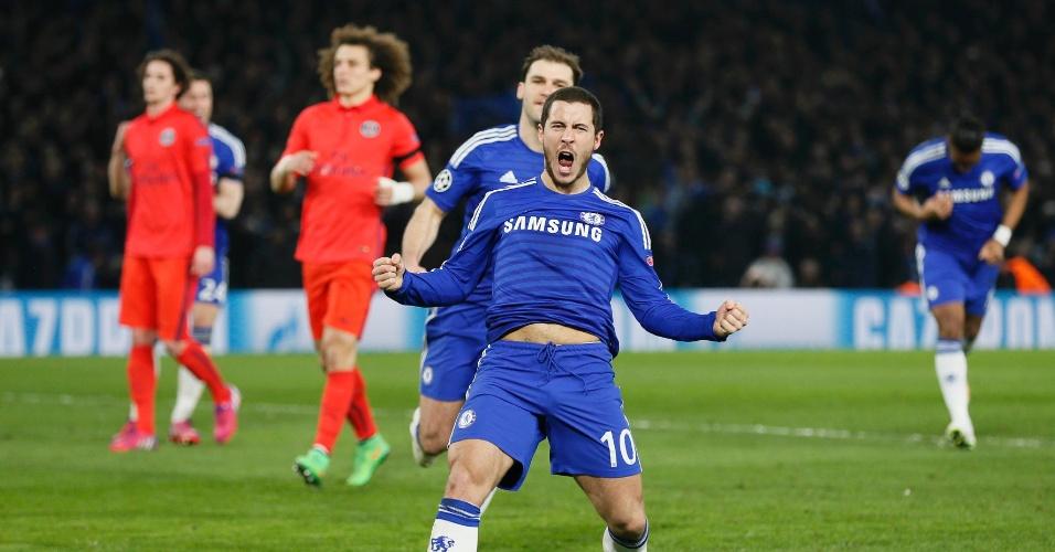 Hazard desempata a partida após cobrança de pênalti e recoloca o Chelsea na frente do PSG