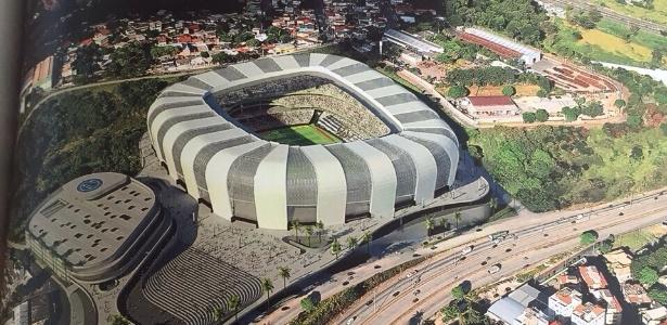 Livro de arquitetura destaca o projeto do estádio do Atlético-MG - Reprodução internet