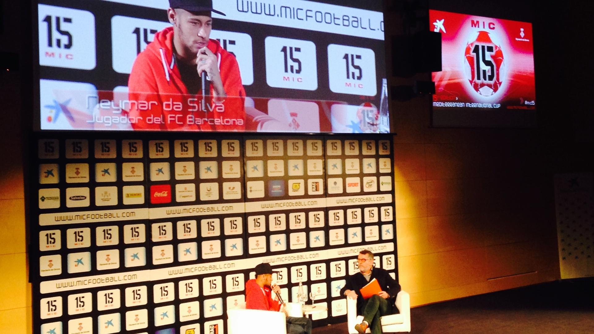 Neymar participou de evento em Barcelona