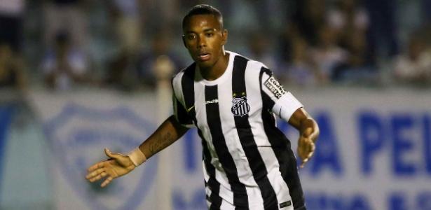 Robinho não gostou da postura do Maringá e das finalizações do Santos -  Célio Messias/Estadão Conteúdo