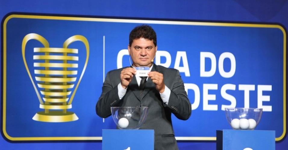 Sorteio da fase eliminatória da Copa do Nordeste realizado no Rio de Janeiro