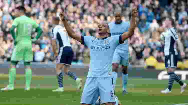 Volante brasileiro Fernando marcou o segundo gol do City diante do West Bromwich - Efe - Efe