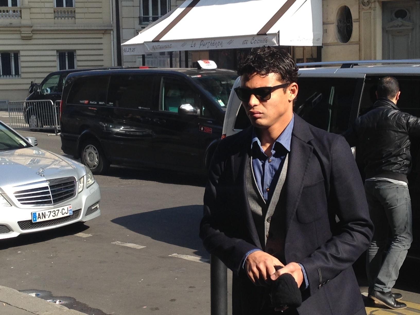 Thiago Silva mora na França e levou menos de 10 minutos para chegar ao hotel em que a seleção está hospedada para amistoso em Paris, na quinta