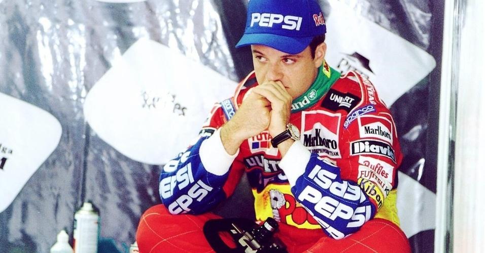 Barrichello se decepciona com o resultado obtido no treino classificatório do GP do Brasil de Fórmula 1