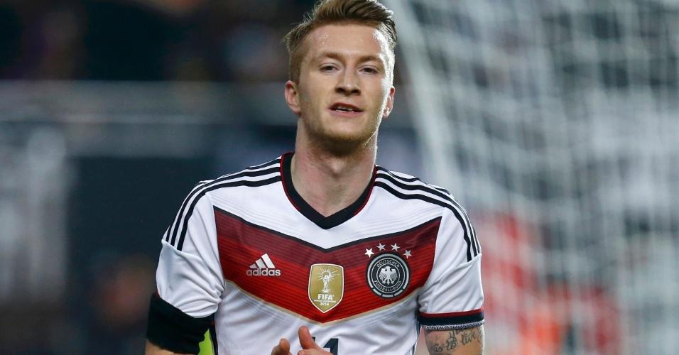 Marco Reus comemora o gol marcado pela Alemanha contra a Austrália