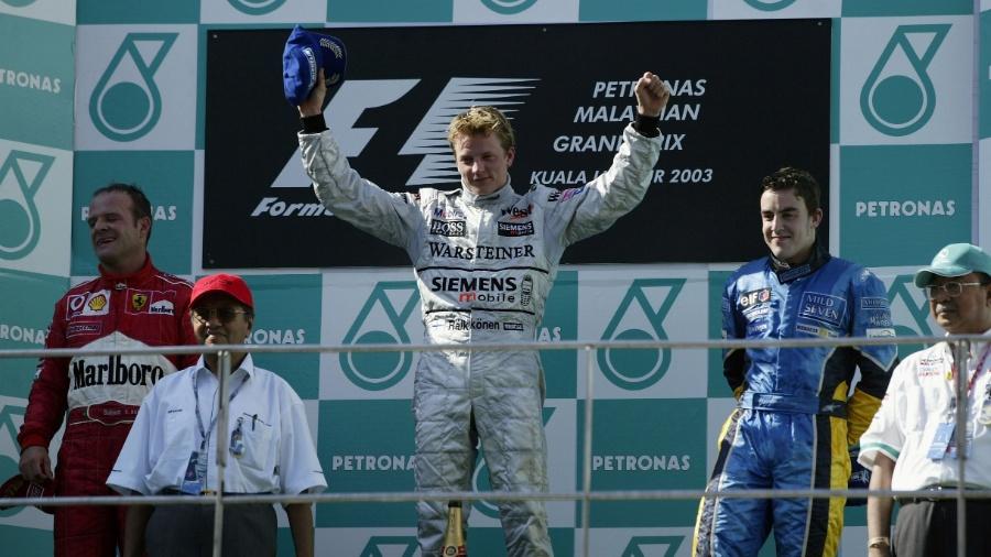 GP da Malásia de 2003 marcou primeira vitória e Raikkonen e primeiro pódio de Alonso - Clive Rose/Getty Images