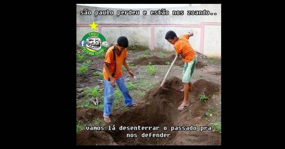 Estratégia do torcedor do São Paulo para calar os críticos após derrota para o Palmeiras