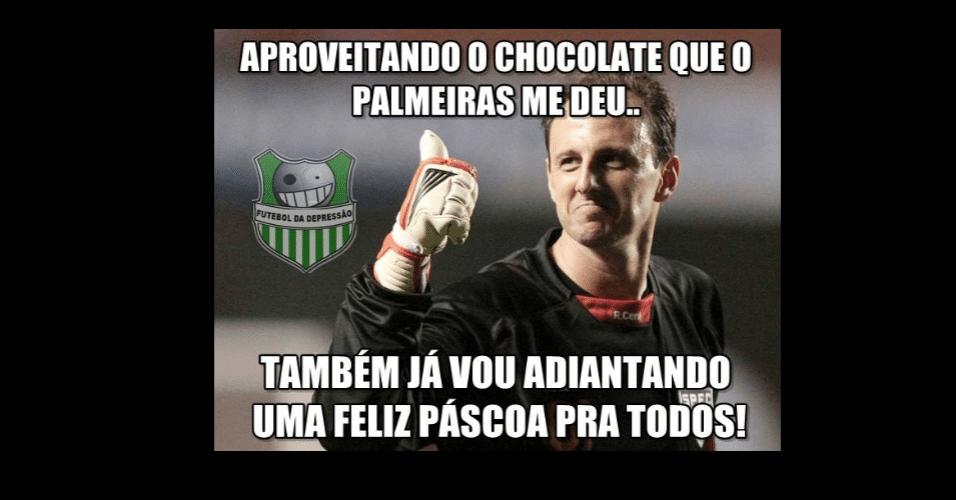 Rogério não escapou das piadas após falhar no gol marcado por Robinho no clássico São Paulo e Palmeiras