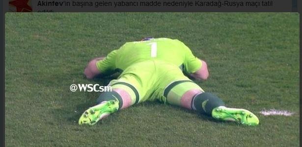 Akinfeev é atingido na cabeça durante jogo da Rússia