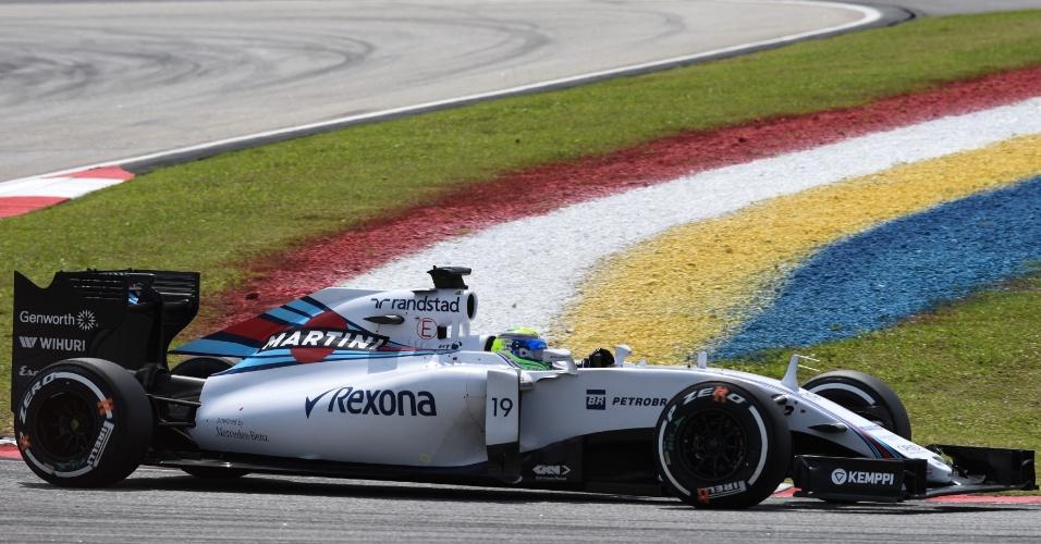 29.mar.2015 - Felipe Massa levou sua Williams ao sexto lugar no GP da Malásia