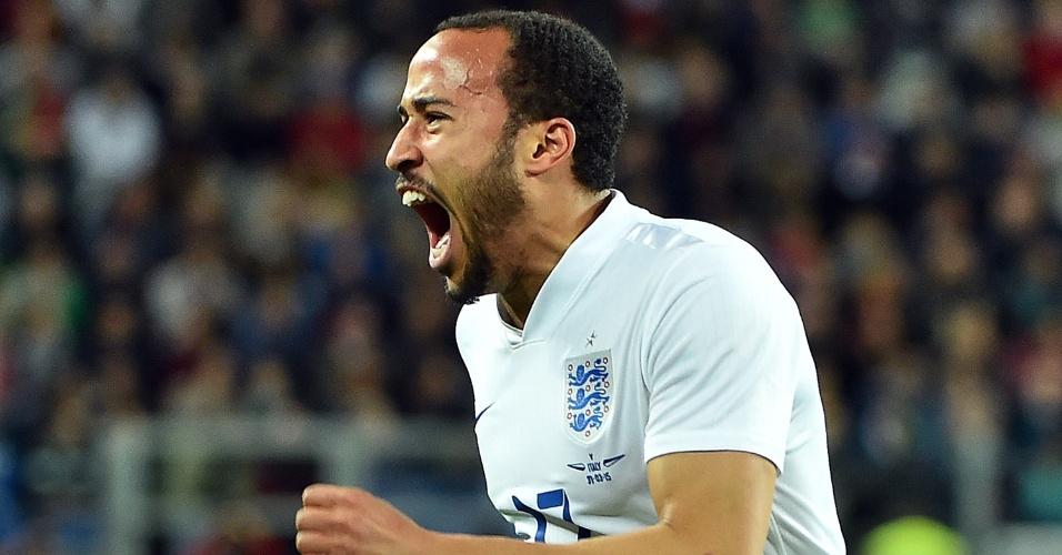 Andros Townsend comemora gol de empate da Inglaterra contra a Itália