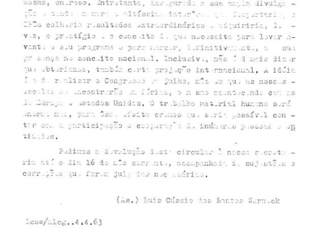 Rodapé do referido documento do Ipês, assinado em 4 de abril de 1963 por Luiz Cássio dos Santos Werneck