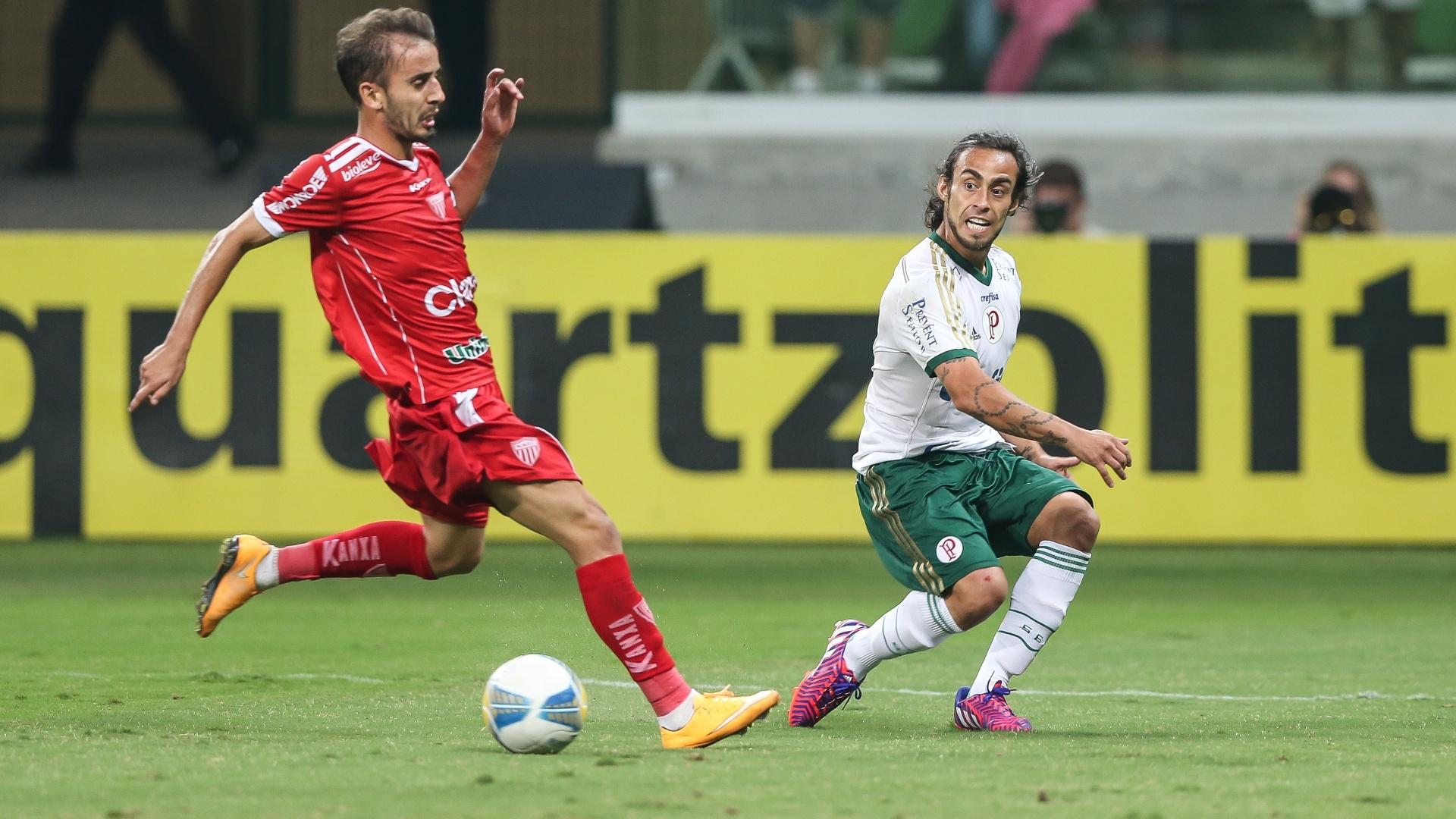 Valdívia fez sua primeira partida pelo Palmeiras em 2015 contra o Mogi Mirim