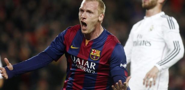 Mathieu teve poucas oportunidades no Barcelona nesta temporada - Xinhua