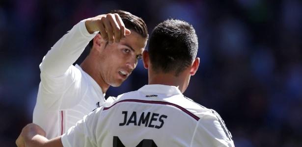 Cristiano Ronaldo e James seriam companheiros de balada
