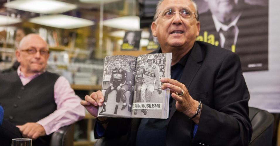 Galvão Bueno lança seu livro na Livraria Cultura, em São Paulo