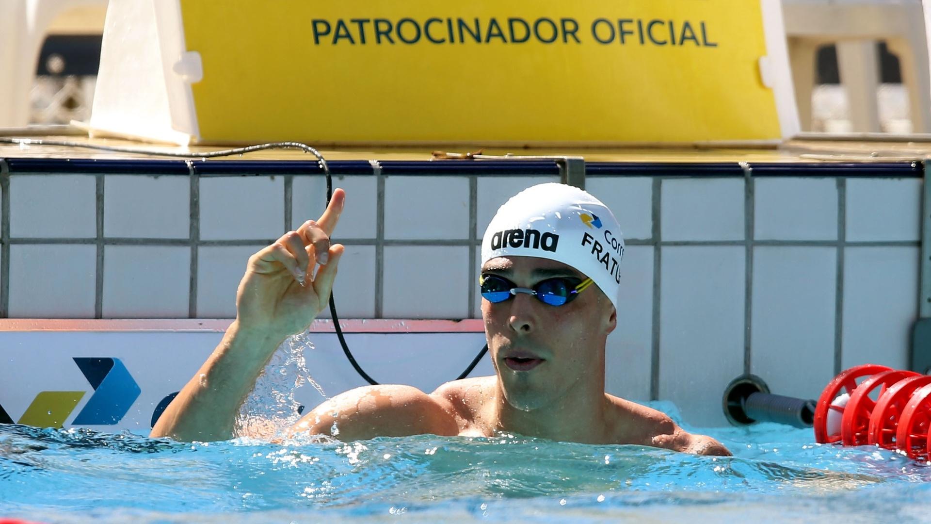 Bruno Fratus comemora 2º melhor tempo do ano, nas eliminatórias no Trofeu Maria Lenk
