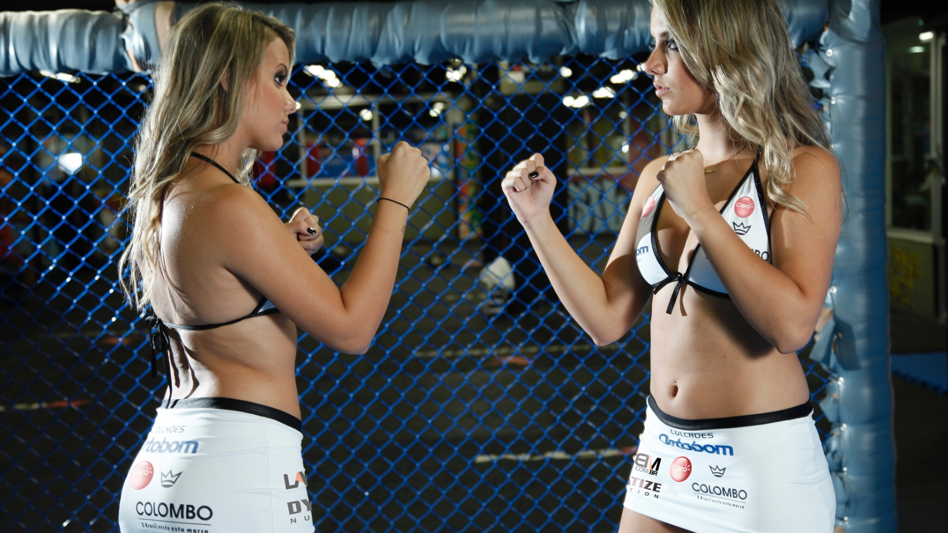Gêmeas do BBB 15, Amanda e Andressa serão ring girls do Jungle Fight 76