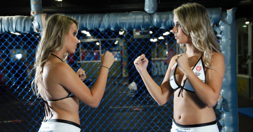 Gêmeas do BBB 15, Amanda e Andressa serão ring girls do Jungle Fight 76