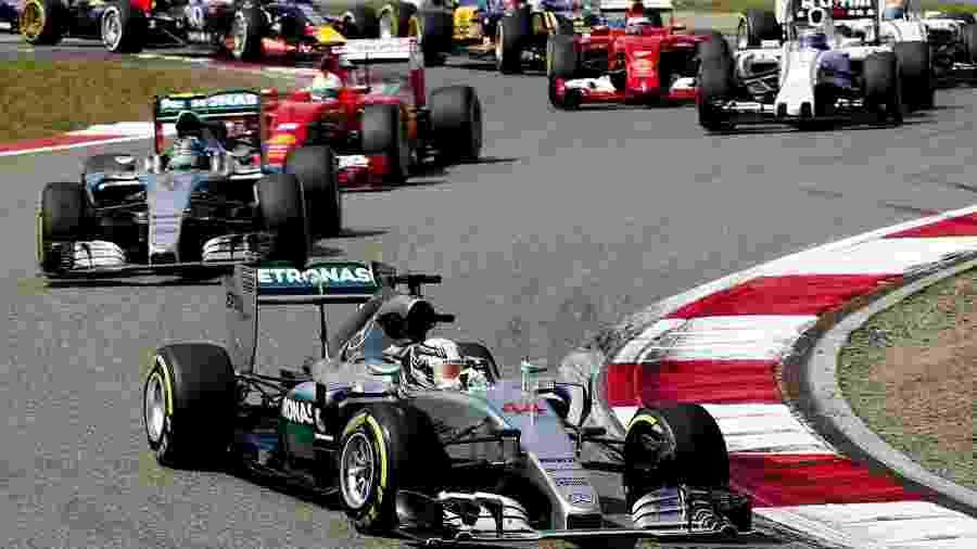 Largada do GP da China de Fórmula 1 - DIEGO AZUBEL/EFE