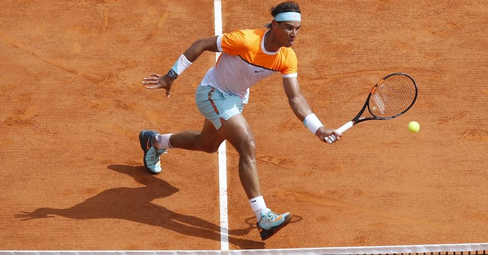Rafael Nadal voleia em duelo pelas quartas do Masters 1000 de Monte Carlo