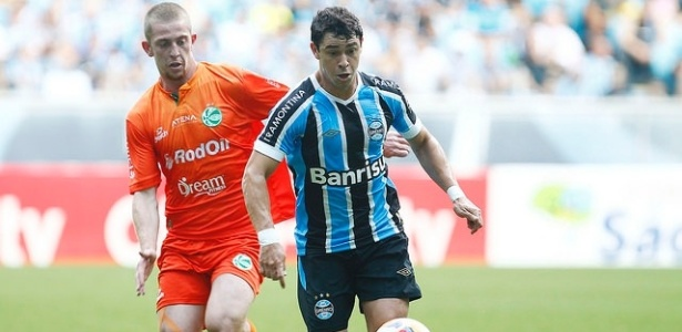 Giuliano protege a bola de Vacaria em Grêmio x Juventude. Vitória dá  classificação 3a7a1200bc7b6