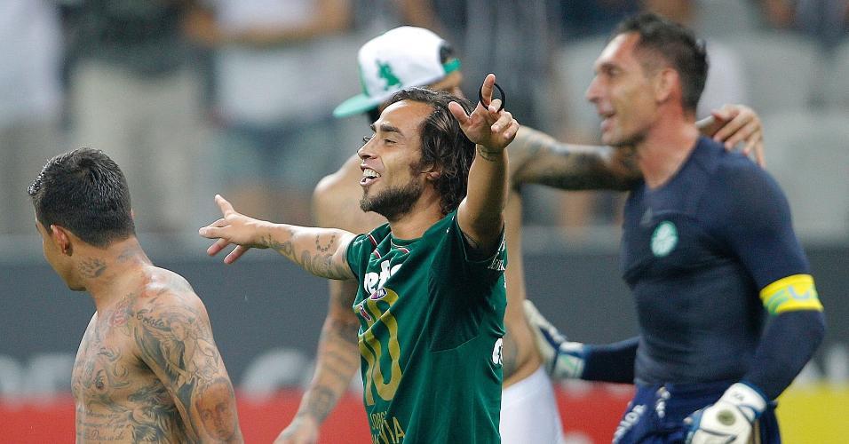 Valdivia comemora classificação do Palmeiras contra o Corinthians, na semifinal do Paulistão