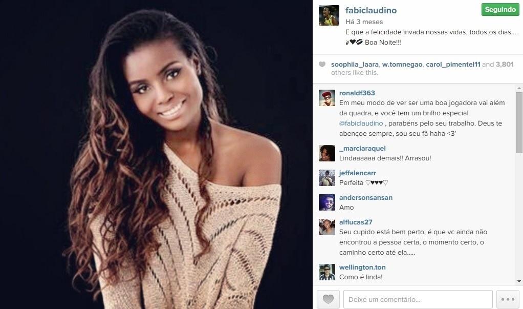 A campeã olímpica Fabiana é muito fotogênica