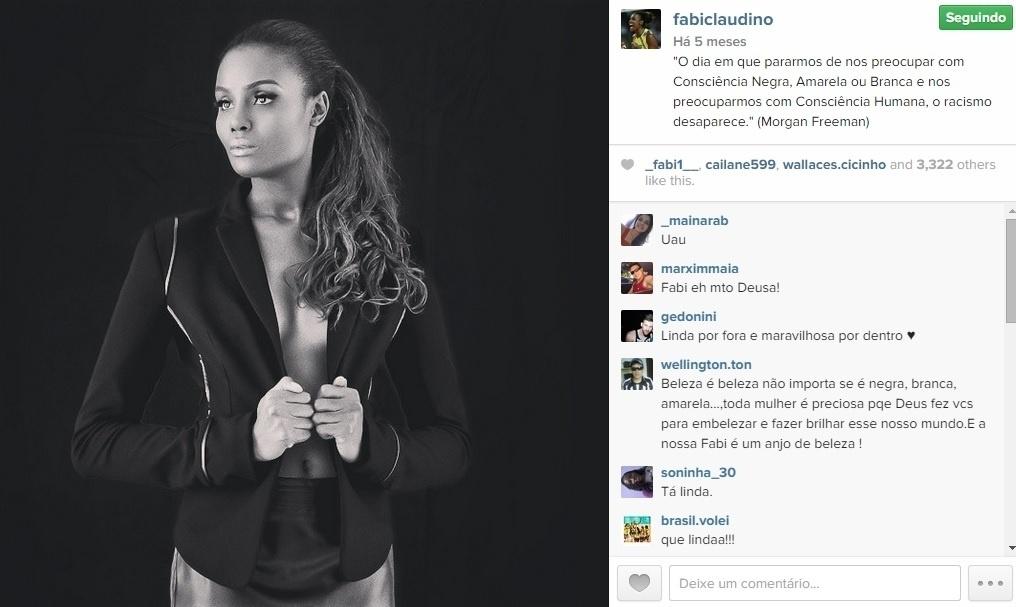 Fabiana em ensaio fotográfico