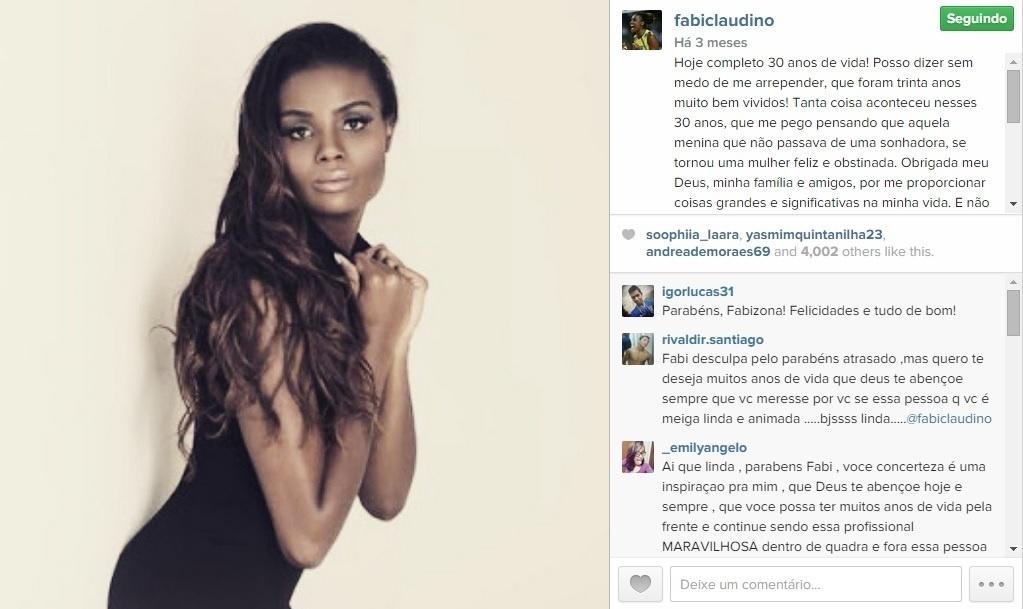 Fabiana usa seu Instagram para postar muitas fotos