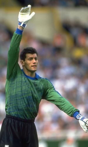 Goycochea durante amistoso da seleção argentina em Wembley, Londres, em 1991