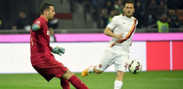Totti tem sido reserva na Roma