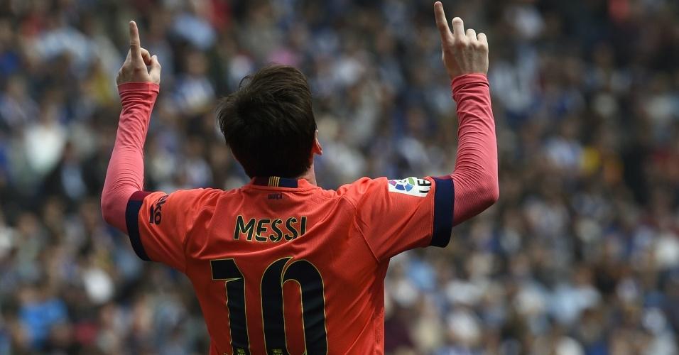 Messi marca o segundo do Barcelona contra o Espanyol