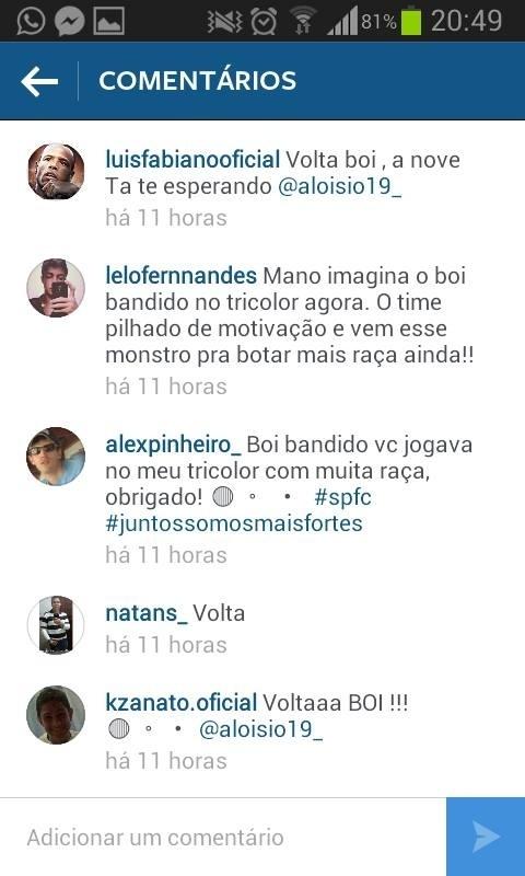 Reprodução do tweet de Luis Fabiano, que dá margem para a especulação de que ele sairá do São Paulo