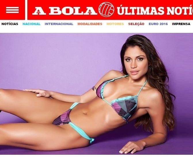 O texto que falava de Maria Melilo ressaltava que a modelo foi capa da revista do São Paulo