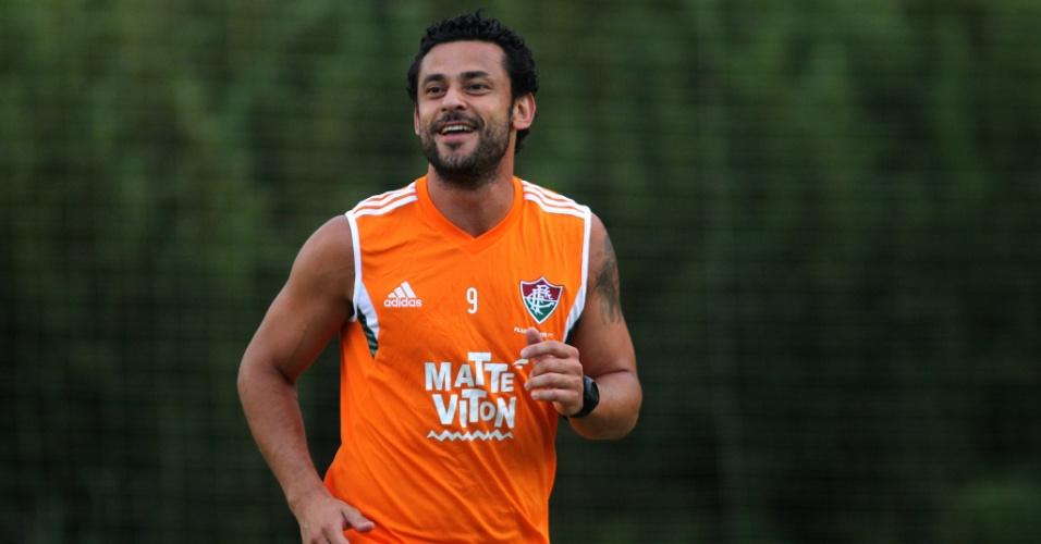 29 abr. 2015 - Fred participa de treinamento do Fluminense em Mangaratiba