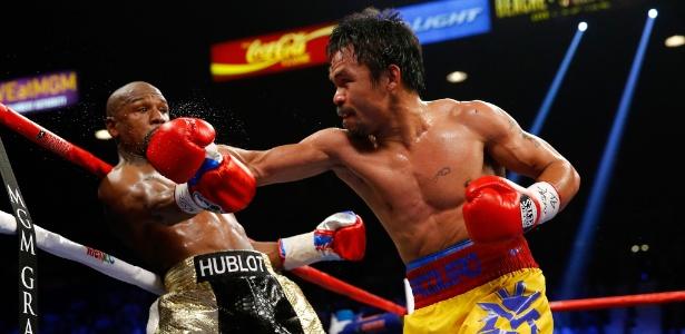 Pacquiao e Mayweather se enfrentaram em Las Vegas, em maio de 2015 - Getty Images