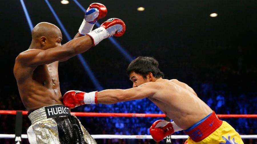 Floyd Maywather e Manny Pacquiao se enfrentaram em maio de 2015 - Getty Images