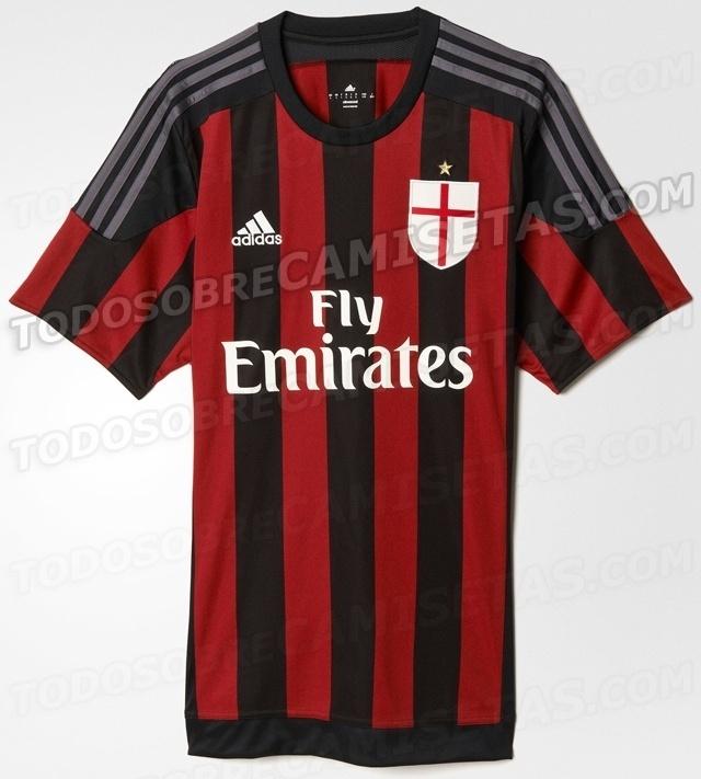 Camisa do Milan para a temporada 2015/2016