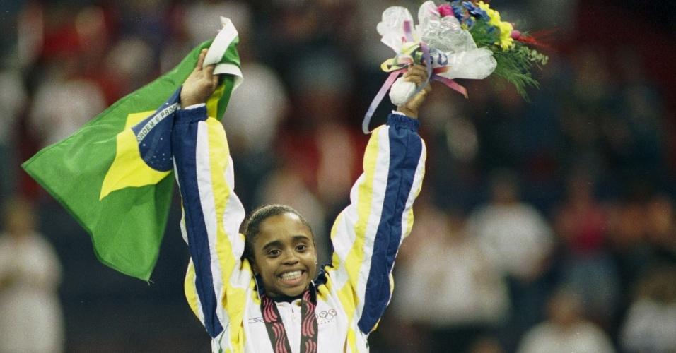 Daiane dos Santos nos Jogos Pan-Americanos de Winnipeg, em 1999