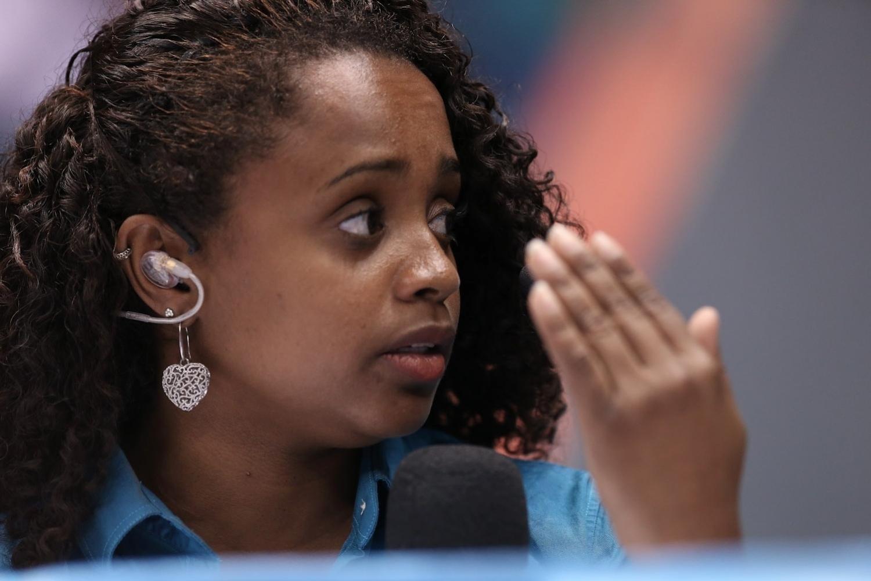 Daiane dos Santos trabalha atualmente como comentarista da Globo e do SporTV nas transmissões de ginástica