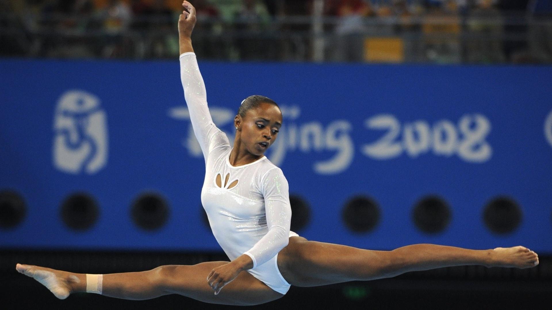 Daiane se apresenta nos Jogos Olímpicos de Pequim, na China, em 2008