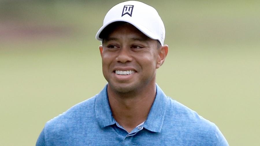 Tiger Woods durante treino para o Players Championship em 2015 - Sam Greenwood/Getty Images/AFP