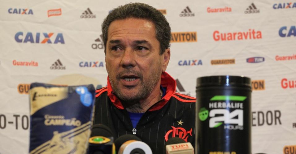 Vanderlei Luxemburgo concede entrevista coletiva após jogo-treino em Atibaia