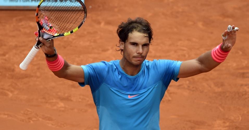Rafael Nadal agradece após vencer mais uma no Masters 1000 de Madri