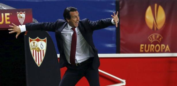 Unai Emery, tricampeão da Liga Europa com o Sevilla, é cotado para assumir o Real Madrid - MARCELO DEL POZO / REUTERS