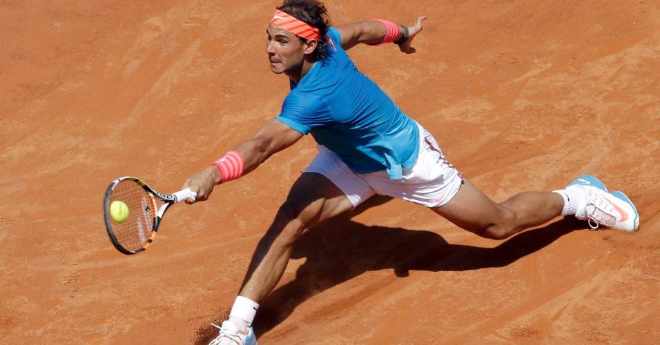 Rafael Nadal em sua estreia no Masters 1000 de Roma