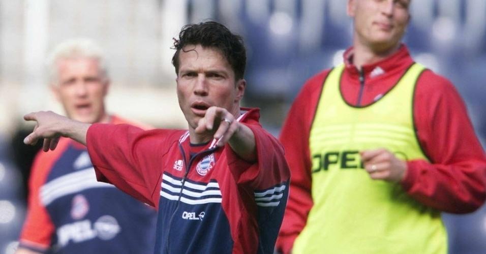 Lothar Matthäus durante um treino do Bayern de Munique em 1999