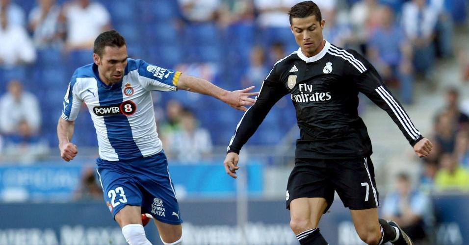 Cristiano Ronaldo fez o primeiro gol do Real Madrid contra o Espanyol